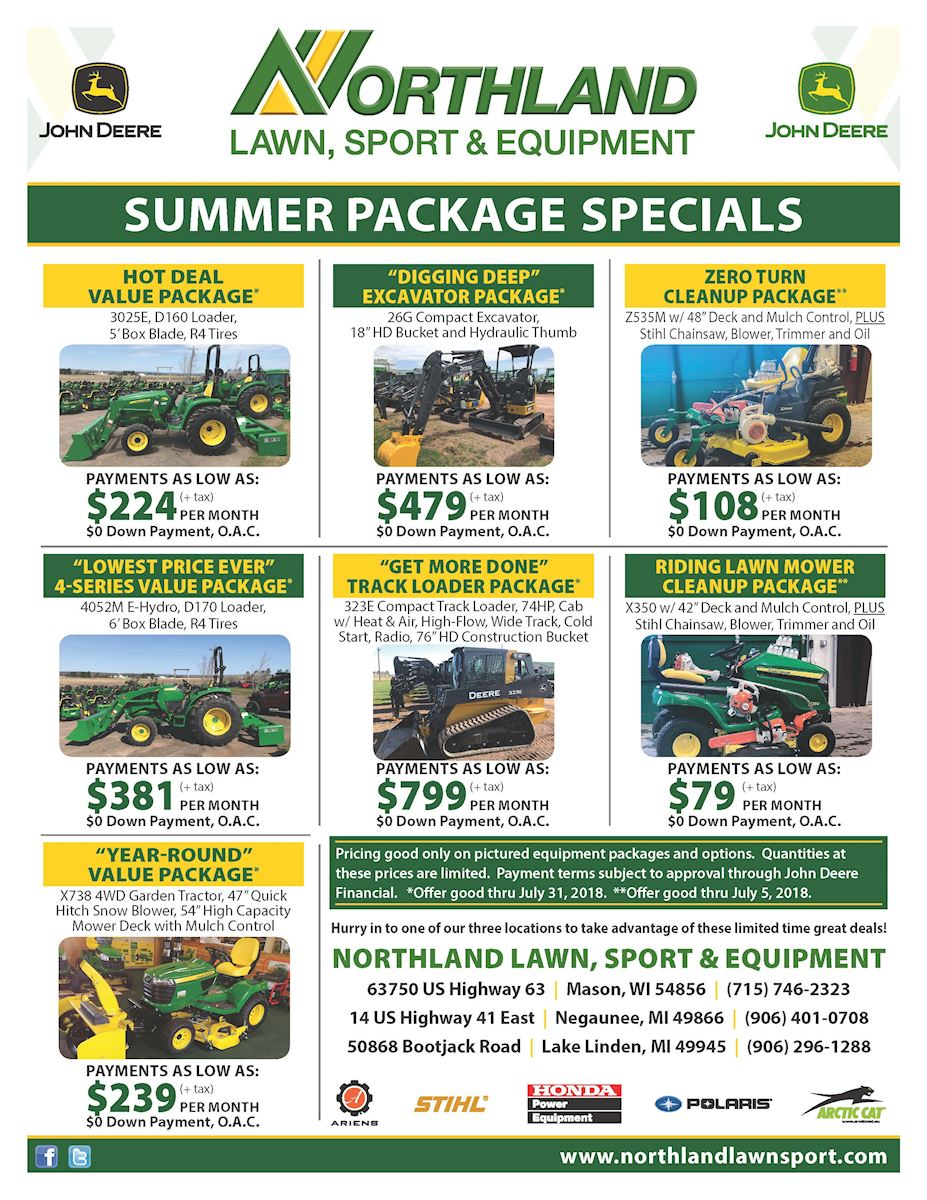 Summer Package Specials - 2018
